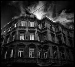 The Nightmare (Atilla1000) Tags: street sky bw building birds clouds manipulation explore nightmare taksim beyolu interestingness3 manipulationbirds