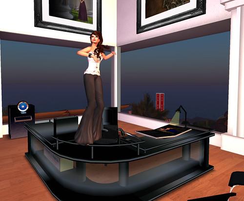 Dancing receptionist