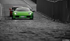 Murcielago and F360. (Denniske) Tags: verde green car club digital canon eos 22 march is gr