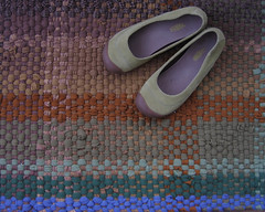 Handwoven Superwash Wool Rug (fiveforty) Tags: recycled sweaters merinowool superwashwool handwovenragrug