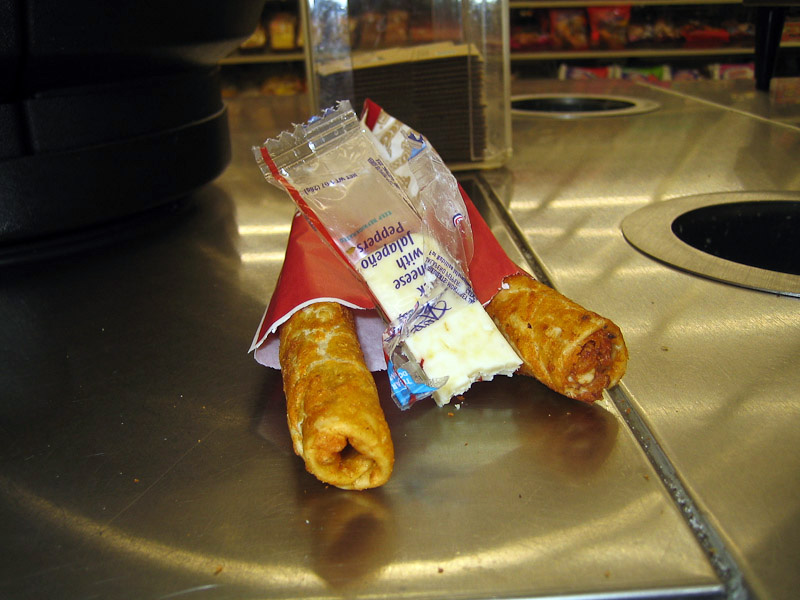 Stuff I eat from 711: Meat Tubes: Taquitos