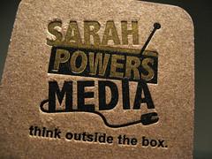 Sarah Powers Media Letterpress - Top Closeup