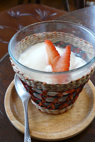 Bavarian Cream with strawberry
