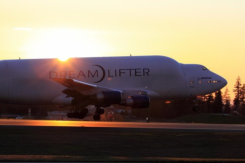 dreamlifter sunset