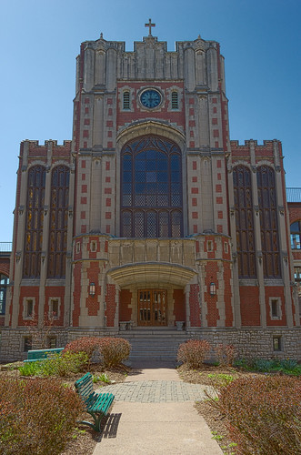 Former Daughters of Charity chapel, at the University of Missouri - Saint Louis, in Normandy, Missouri, USA - exterior