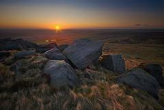 """West Nab Sunrise (andy_AHG) Tags: sunlight sunrise landscape rocks earlymorning scenic westyorkshire otw nikond200 westnab platinumheartaward melthammoor absolutelystunningscapes """"flickraward"""" goldendiamondblog moorlandscenes saddleworthphotobooklandscapes landscapespicked"""