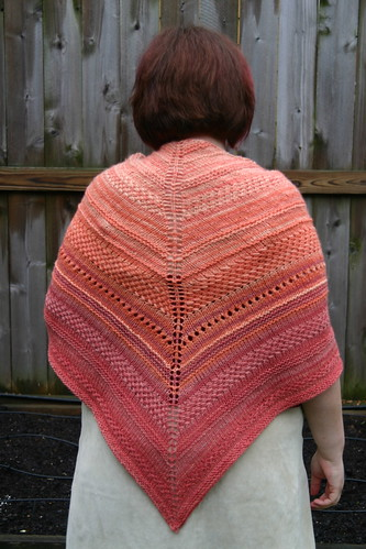 Handspun shawl from the back