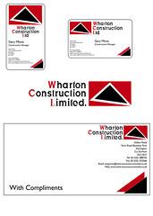 Wharton Construction Brand Identity