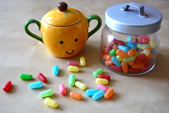 happy pills (sevenworlds16) Tags: orange ikea happy rainbow colorful candy pastel chewy bowl sugar ollie container jar 365 mikeandike project3661 2009yip 3652009