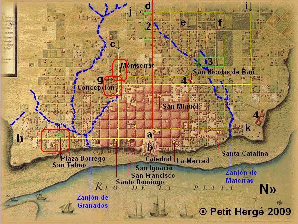 Plan de Buenos Aires en 1750