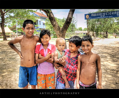 The Smiling Faces of Cambodians :: HDR (Artie | Photography :: I'm a lazy boy :)) Tags: portrait beautiful kids photoshop canon children toddler cambodia cambodian village cs2 smiles wideangle handheld 1020mm siemreap villagekids hdr artie 3xp sigmalens photomatix tonemapping villagechildren tonemap 400d rebelxti