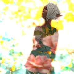 All dressed up... (Lemon Tissue) Tags: 3d sl elf secondlife embryo elv virtualworld alianatomsen