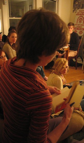 Nathanaël reading from Absence Where As