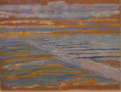 Mondrian, Piet (1872-1944) - 1909 View from the Dunes with Beach and Piers, Domburg (Museum of Modern Art, NYC) (RasMarley) Tags: dutch landscape moma museumofmodernart painter 20thcentury mondrian 1900s 1909 pietmondrian postimpressionism veiwfromtheduneswithbeachandpiersdomburg