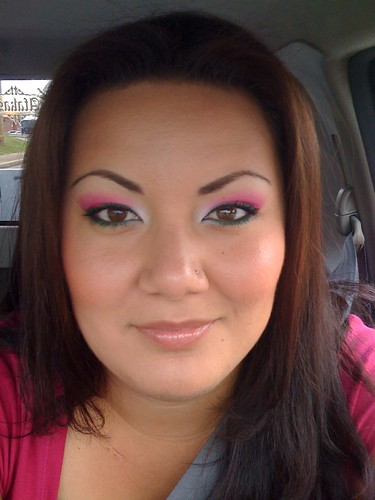 Pink with Green Liner