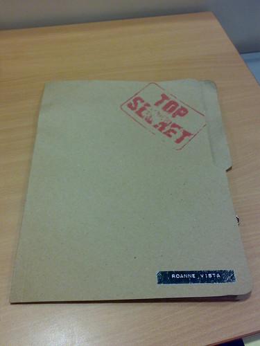 Top Secret Folder! Hush.