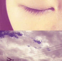 Day fifty four. (celeste li) Tags: blue sky electric closeup clouds self project eyes close eyelashes sleep telephone dream peaceful pole thinking serene 365 celeste celestephotography