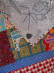 ikea cotton on back (joontoons) Tags: ikea quilt handmade sewing fabric quilting redandblue patchwork birthdaygift applique gardenparty alexanderhenry freemotionquilting ikeafabric annamariahorner sandihenderson joontoons
