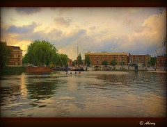 Sunset over the Harbour,Groningen stad.the Netherlands,Europe (Aheroy(2Busy)) Tags: city haven holland art netherlands dutch architecture photomanipulation fun town europe colours different harbour arts nederland surreal hallucination groningen stad beautifull aheroy aheroyal
