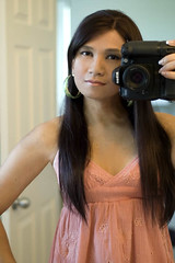 faded peach (bethantics) Tags: selfportrait girl mirror nikond100