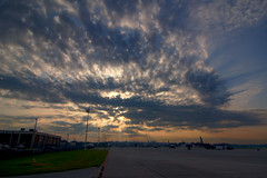 Explosive Sky (RMac_Photography) Tags: morning blue atlanta red sky orange beautiful ga d50 georgia nikon airplanes planes rmac dobbins