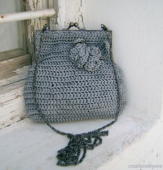 grey crochet purse (1)-crop (creationsbyeve) Tags: flowers cute bag europe pretty handmade crafts crochet greece homemade purse frame handcrafted etsy artisan crafting darkgray darkgrey handmadegifts handcraftedgifts europeanstreetteam creationsbyeve etsygreekteam