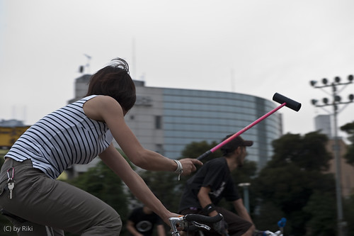 tokyo hard court bike polo 2nd session...