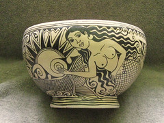 Mermaid Bowl Mexico (Teyacapan) Tags: mexico ceramics crafts artesanias pottery mermaid michoacan barro sirena tzintzuntzan tlanchana