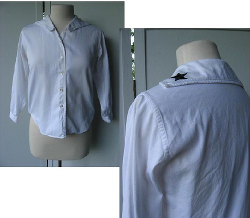 1950s sailor middy blouse
