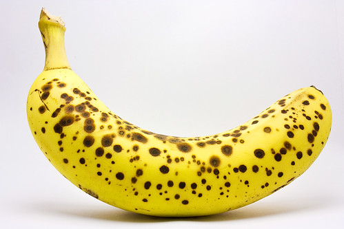 Banana in lightbox