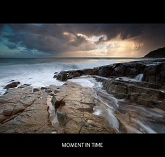 Moment in Time (itsgottabered) Tags: ocean cloud beach sunrise canon photography dawn rocks surf waves seascapes ngc australia queensland noosa 1740mm stormyskies hitechfilters 5dmkii