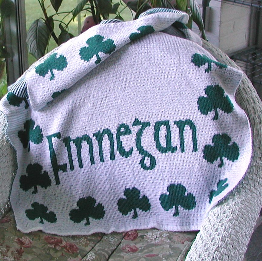 Personalized Knit Irish Baby Blanket