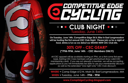 CEC Club Night - Promo Flyer