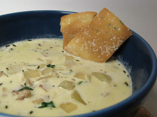 Clam Chowder & Thyme Crackers