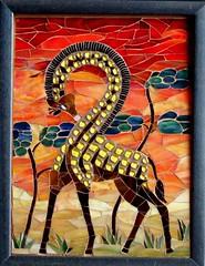 Inverse giraffe (stiglice - Judit) Tags: africa mosaic stainedglass giraffe mosaicchallenge