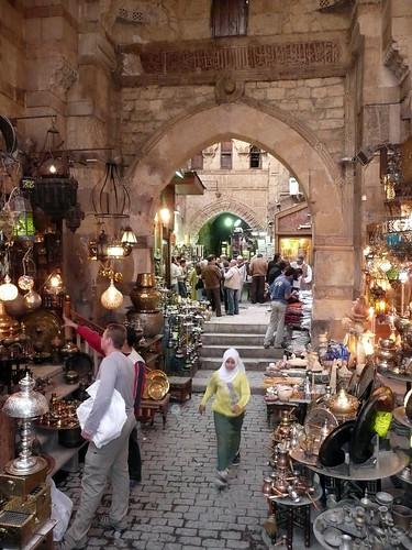Khan Al Khalili Market por drona.
