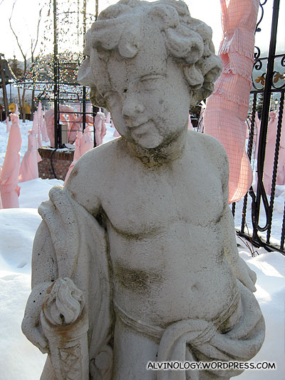 Rachel said the statues at Ishiyi are all very modest as their private parts are all covered