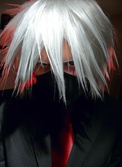 P1440902MC - Feel teh 3vil... (hypersapiens) Tags: mask cosplay ninja business suit cosplayer naruto sharingan kakashi hatake unnamedunknown