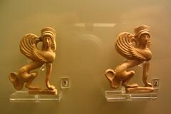 Archaic Sphinges (diffendale) Tags: sphinx museum ceramic greek ancient terracotta greece figure figurine seated mycenae archaic sphinxes sphinges pleiades:findspot=570491