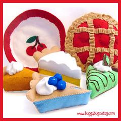 Bugga Bugs Blue Ribbon Pies Felt Play Food Pattern par Bugga Bugs