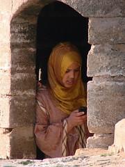 on the International Women's Day 2009 (daniel.virella) Tags: woman liberty freedom expression cellphone morocco maroc marruecos essaouira marrocos mogador communicaton الصويرة internationalwomensday2009