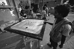 India - Kolkata (luca marella) Tags: life street city travel people bw india white black game boys photo asia board voigtlander documentary social pb bn kolkata bianco nero calcutta carrom marella marellaluca k