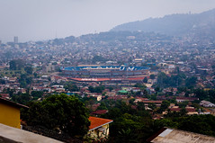 Freetown Overlook (unipus) Tags: africa stadium sierraleone freetown