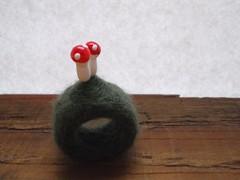 Mushroom - felt ring (deardodo) Tags: sculpture art wool mushroom vintage woodland ceramic miniature jewelry felt ring jewellery toadstool etsy filz needlefelted