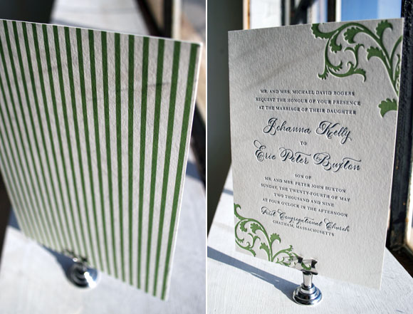Vettore letterpress wedding invitation with back printing - by Smock