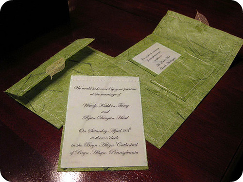 Wedding Invitations Recycled Paper: DIY: Wedding Invitations & Programs With A Sewing Twist