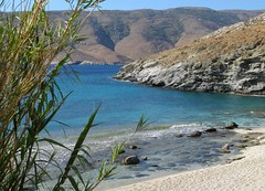 Bouros beach in Korthion Bay, Andros (n.pantazis) Tags: blue sea summer sun beach rock island aegean greekislands andros ormos aegeansea canonpowershota720is korthi bouros