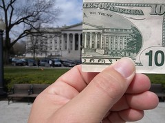 $10 and the US Treasury (zieak) Tags: money washingtondc treasury recovery spending stimulus