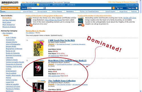 #1 on Amazon -- beat Twilight