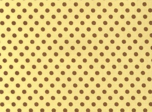 Lecien Color Basic - Smaller Brown Dots on Yellow